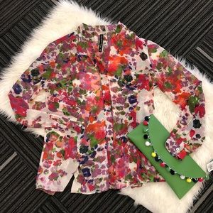 W118 by Walter Baker Sz. XS  Willie floral blouse